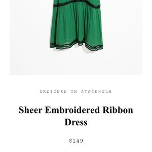 Sheer embroidered ribbon dress / & other stories